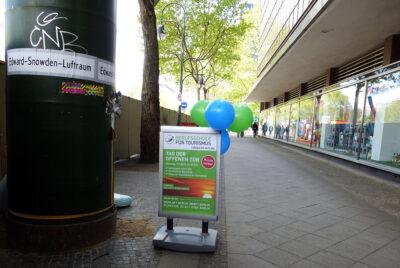 Luftballons weisen den Weg...